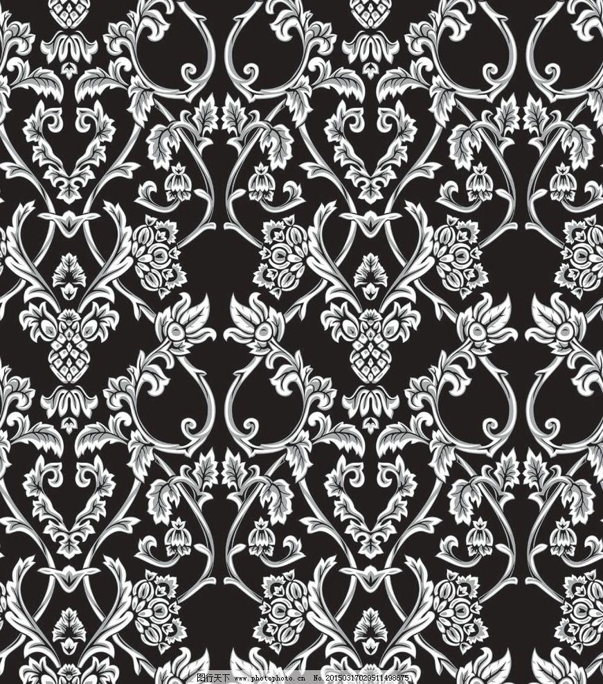 黑白时尚花纹图片