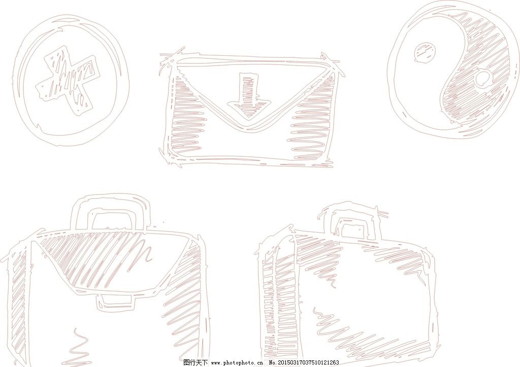 可爱 手绘素材 卡通装饰素材 矢量图 卡通 矢量 抽象设计 时尚 可爱卡通 卡通矢量素材 线条 矢量素材 卡通素材 素材 矢量线条 素描 手绘 简洁 信封 太极图 手提包 公文包 矢量信封 手绘信封 矢量手提包 矢量公文包 手绘公文包 手绘太极图 设计 广告设计 卡通设计 CDR