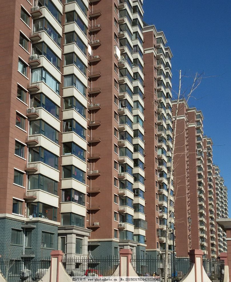 高楼住宅 住宅楼 高层建筑 高层居民楼 园林建筑集锦 摄影 建筑园林