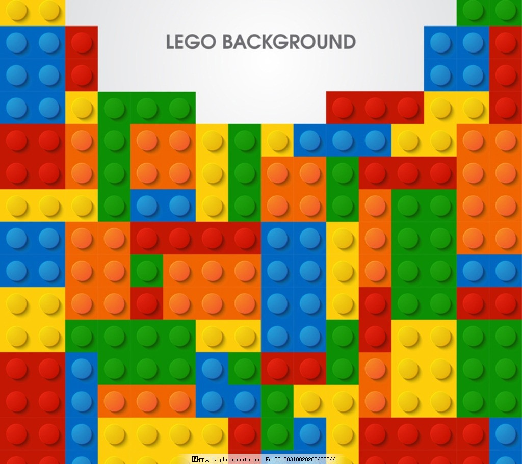 创意乐高积木背景矢量素材 拼图 俄罗斯方块 游戏 玩具 儿童 色彩
