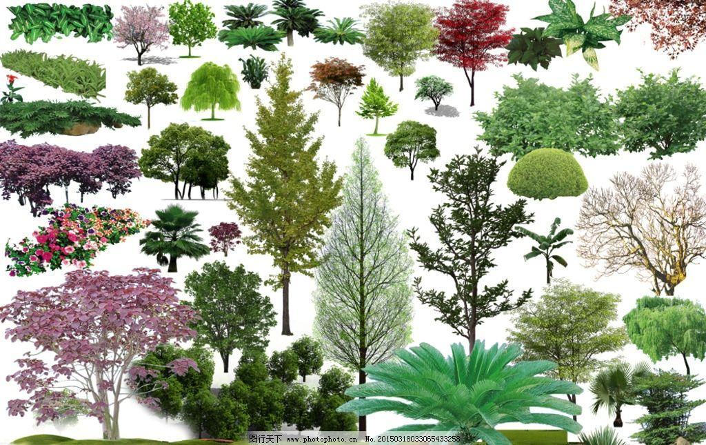 树木景观分层素材图片_其他_psd分层_图行天下图库