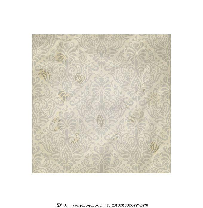 复古欧式花纹底纹矢量素材