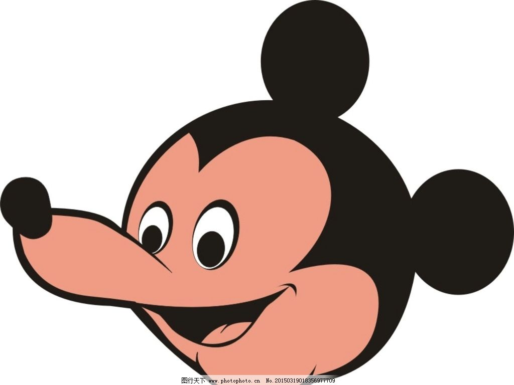 卡通头像 米老鼠头像 可爱卡通形象 米老鼠矢量图 设计 动漫动画 动漫
