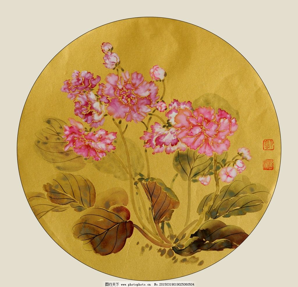 美术 中国画 工笔画 花卉 花朵 牡丹花 设计 文化艺术 绘画书法 300