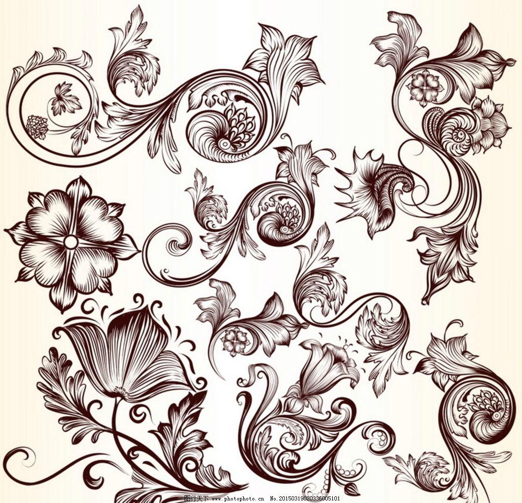 花纹 花边 边框 底纹 欧式花纹