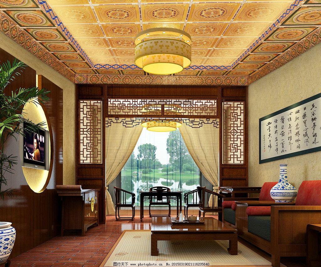 中式木格墙图片