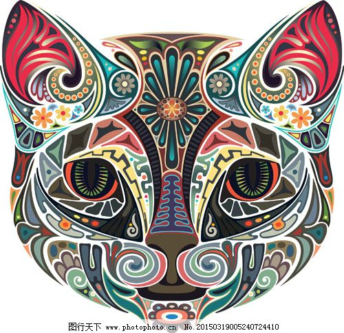 矢量图 图案 纹身 纹身刺青 彩色 创意设计 刺青 花纹图 图案 纹身