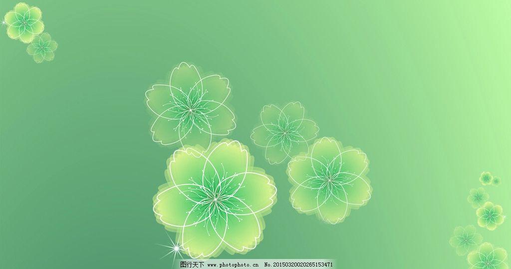 绿色花朵背景图图片