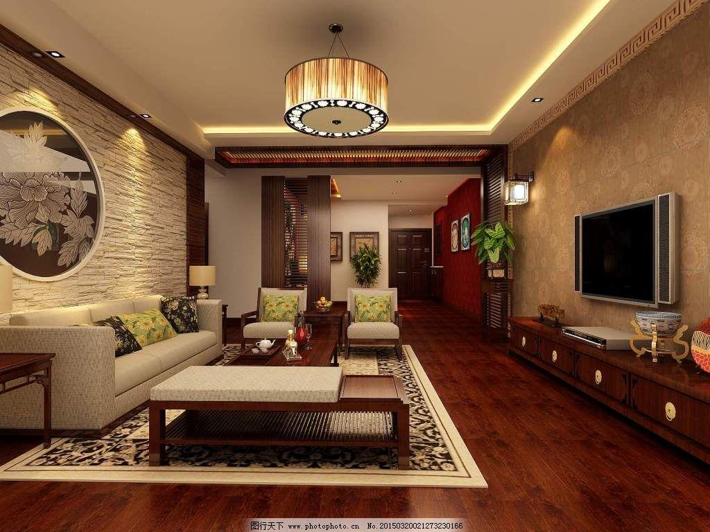 创意客厅石膏造型电视机背景墙