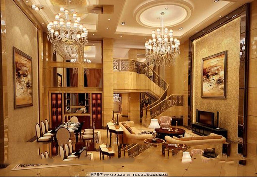 3d模型 豪华客厅 欧式装饰 沙发茶几 豪华客厅 欧式装饰 3d模型 沙发