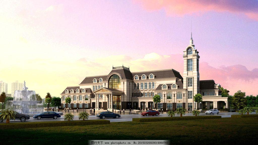 柱廊 外廊 连廊 露台 罗马柱 老虎窗 酒店 宾馆 欧式 新古典 设计