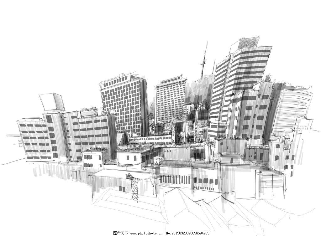 手绘建筑图片_建筑设计