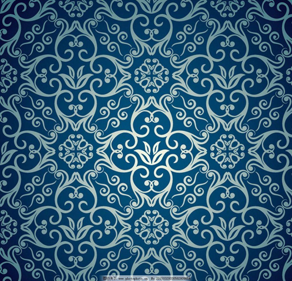 欧式花纹底纹素材图片_卡通设计_广告设计_图行天下