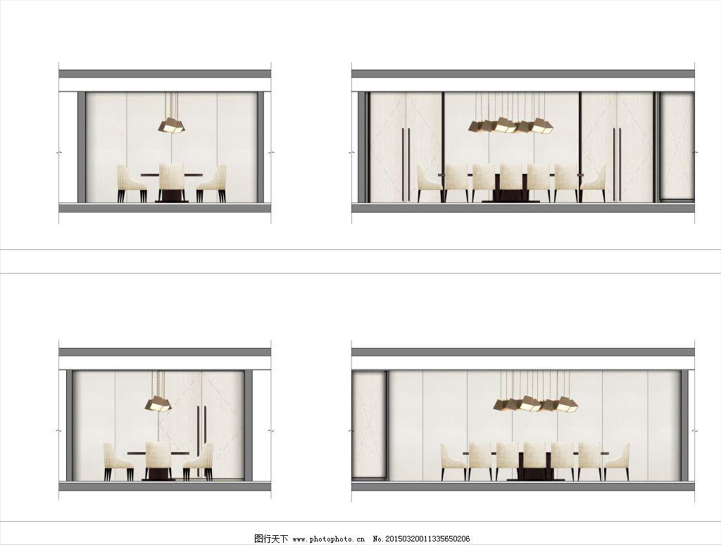 国外酒店包厢立面设计图