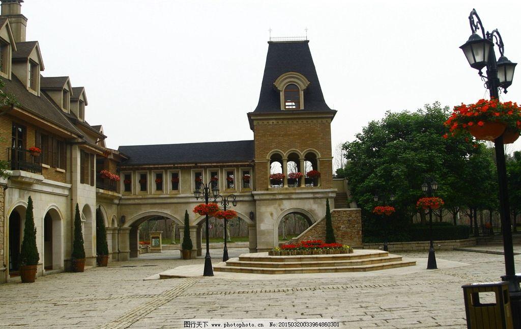 欧式小镇的中心广场图片图片