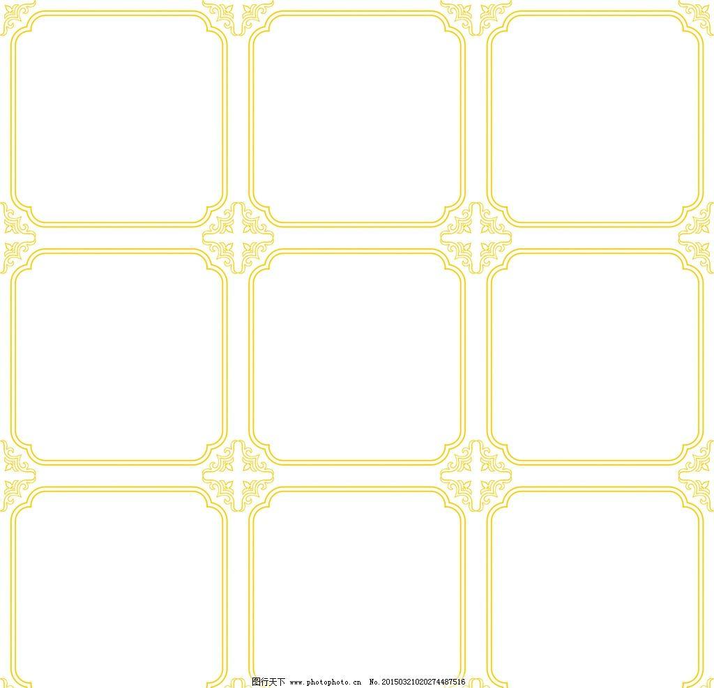 欧式边框素材黑白