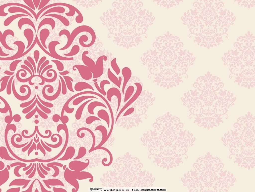 时尚花纹 古典花纹 矢量花纹 移门花纹 欧式花纹背景 花纹花边 婚礼