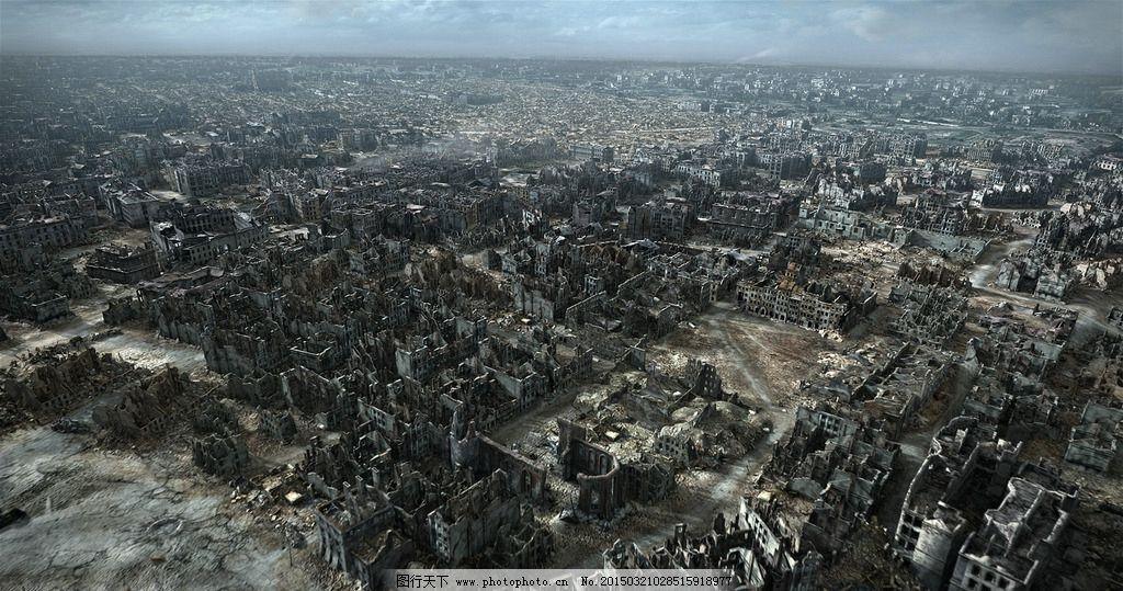 城市废墟图片
