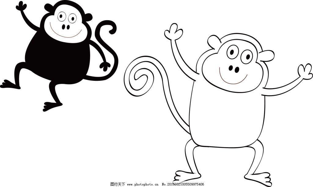 猴子矢量图
