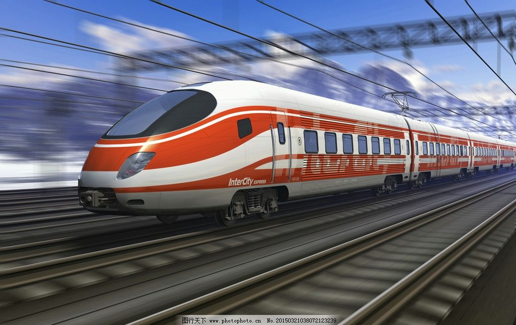 高铁 火车 列车 摄影 铁道 轨道 现代科技 交通工具