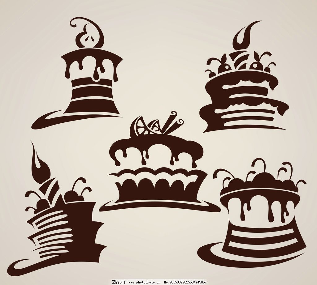 蛋糕 面包 手绘 美食 奶油 生日蛋糕 早餐 营养 西餐美食 餐饮 设计