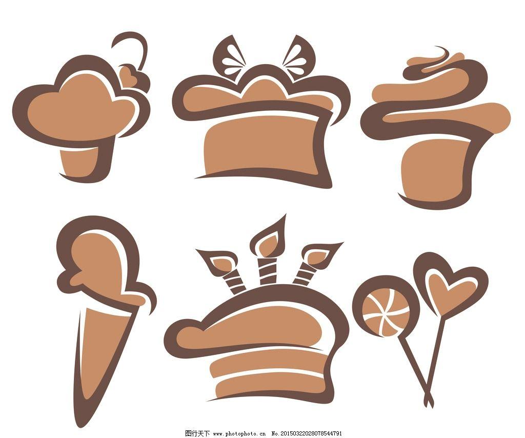 蛋糕 面包 手绘 美食 奶油 生日蛋糕 早餐 营养 西餐美食 餐饮