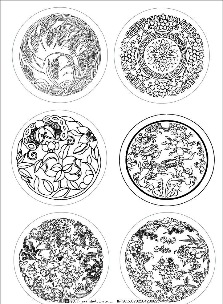 失量圆形水稻 失量圆形花纹 失量素材 设计 底纹边框 条纹线条 ai