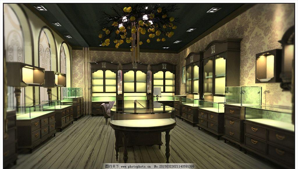 花冠珠宝店设计效果图图片