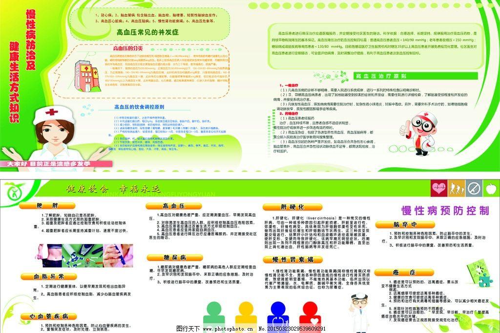 健康教育 宣传栏 慢性病预防 卡通医生 慢性病控制 设计 广告设计