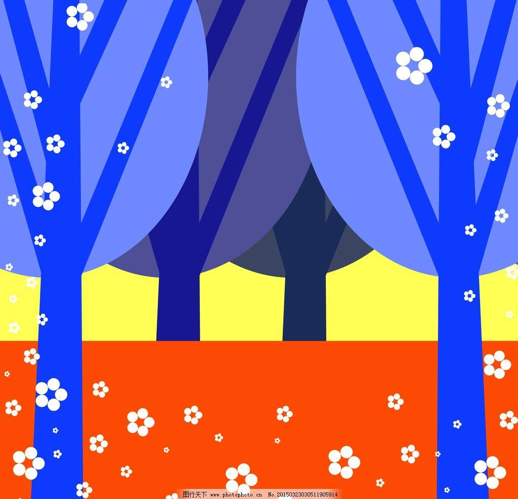 可爱树林背景素材 高清壁纸墙纸图片