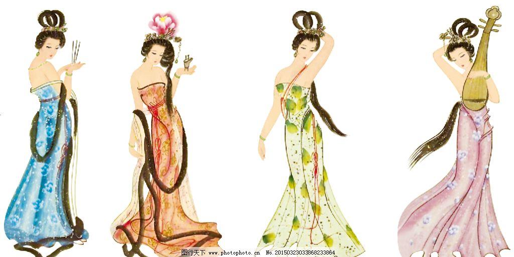 女人 美女 古代美女 古典 西施 貂蝉 王昭君 杨贵妃 设计 其他 图片