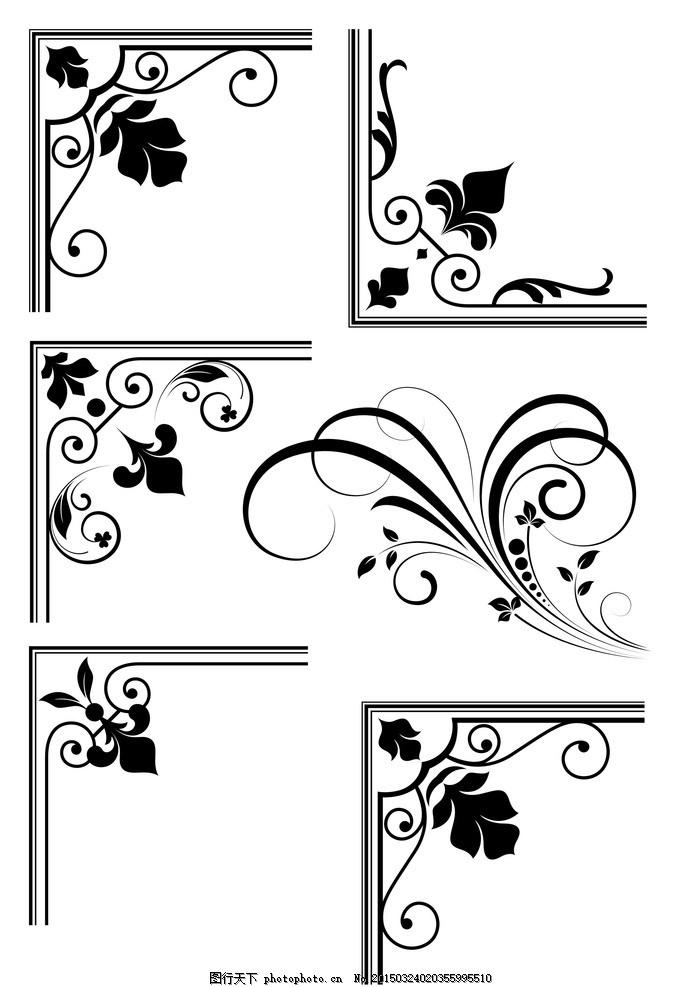 角花 欧式角花 边框 精美欧式花纹 墙纸 壁纸 欧式怀旧复古 花纹边框