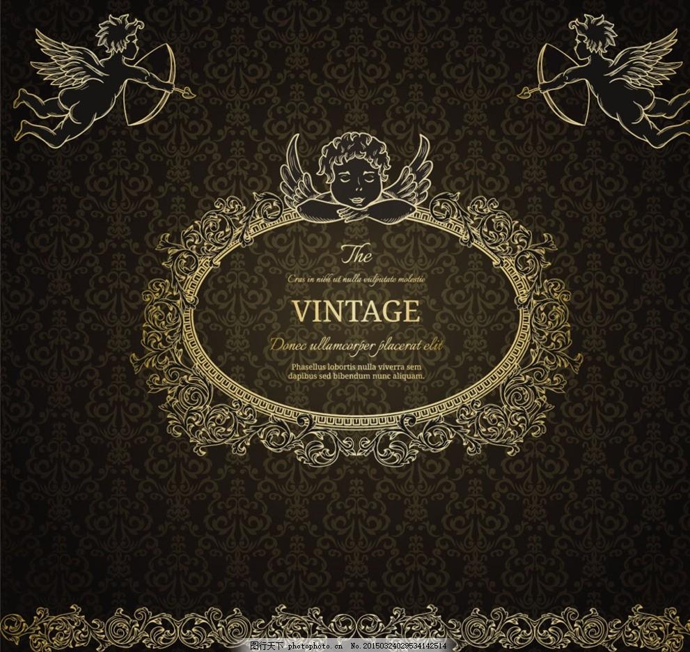 设计图库 广告设计 设计案例  精美欧式花纹背景 欧式花纹 经典花纹