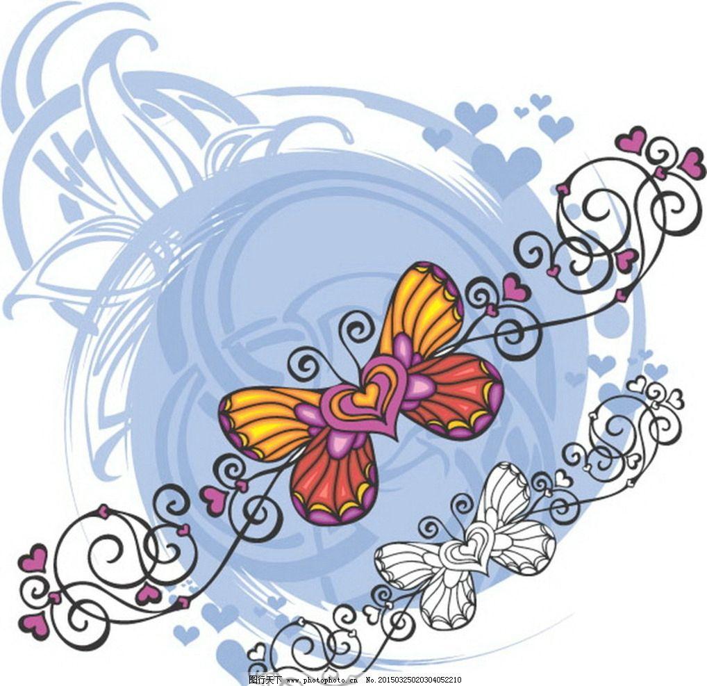 鲜花背景 欧式花纹