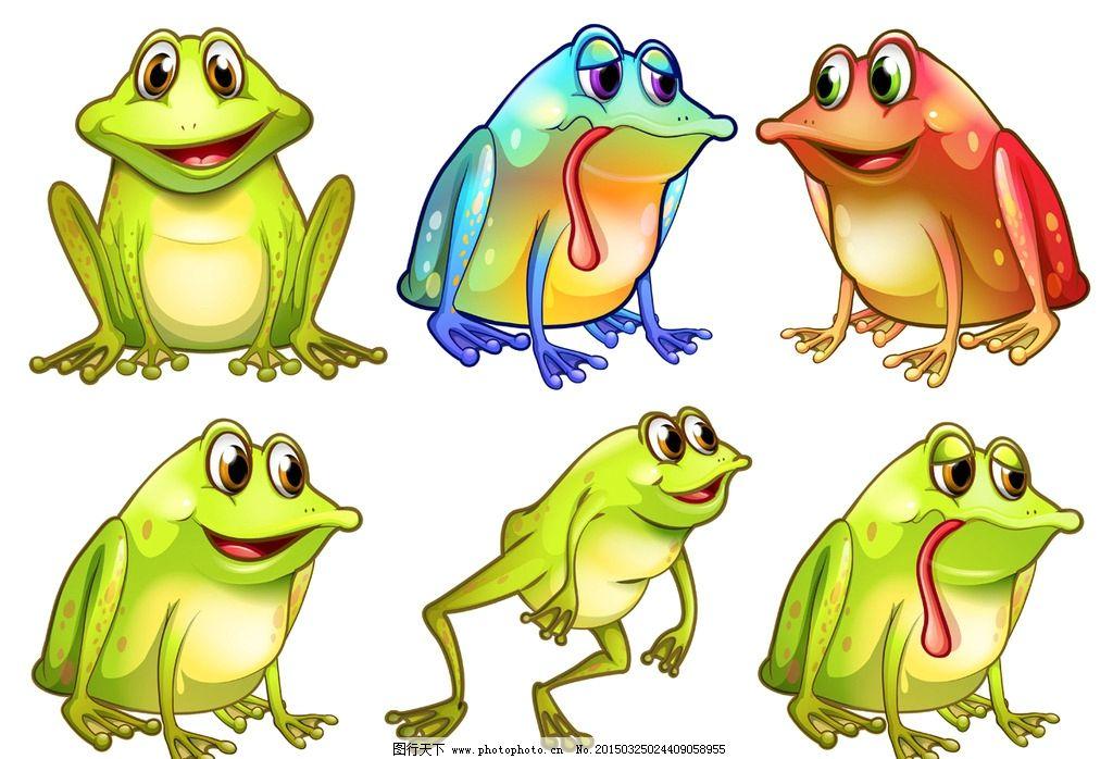 青蛙 卡通动物 可爱 手绘 卡通设计 矢量 eps 设计 生物世界 野生动物