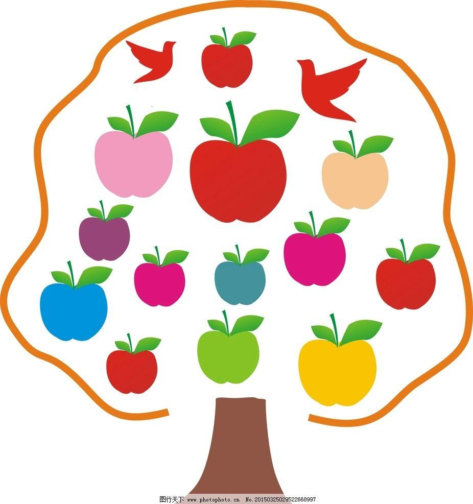 卡通 卡通画 苹果 苹果树