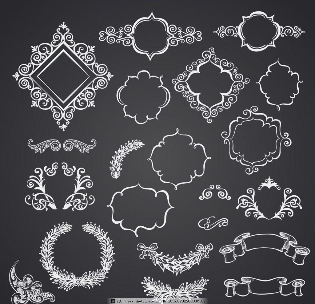 欧式黑白素材贴图