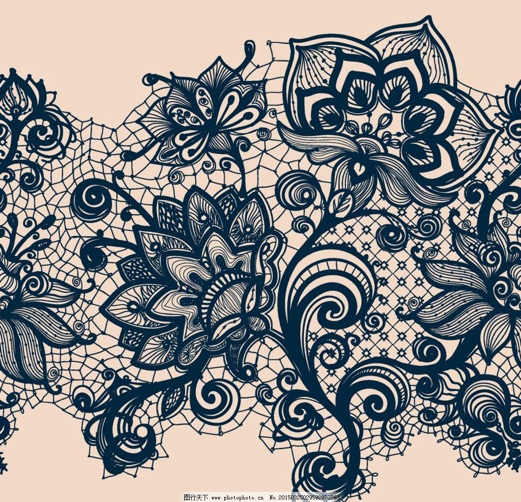 情书 花纹边框 欧式怀旧 复古花纹 欧式底纹 黑白花纹 装饰线条 婚礼