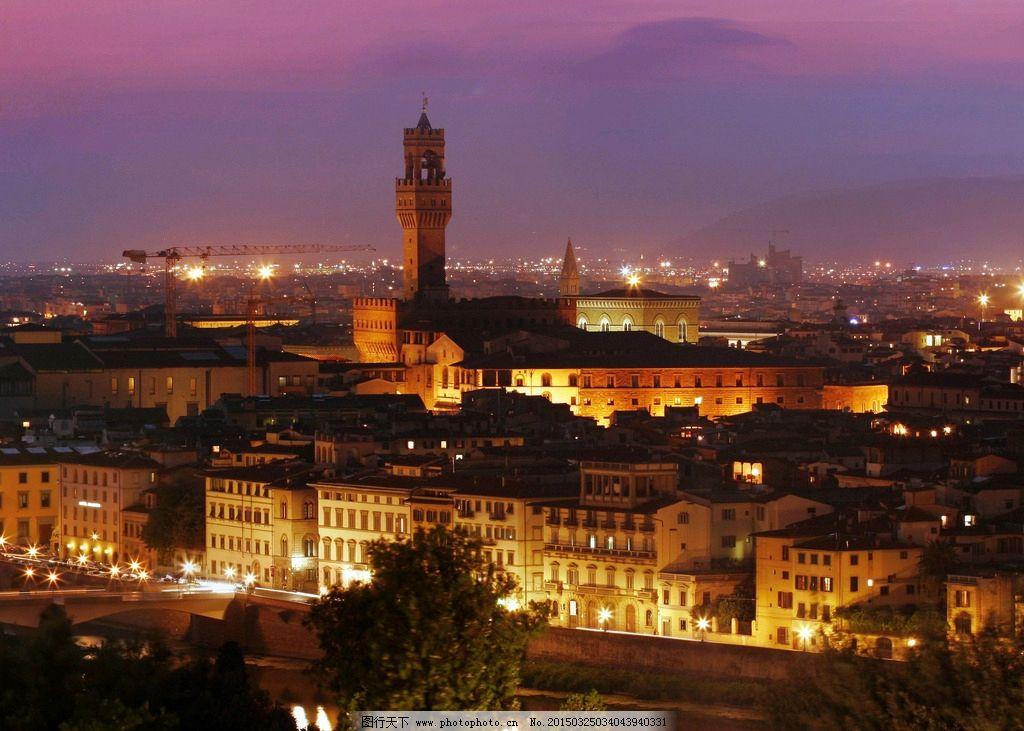 夜景 欧式建筑