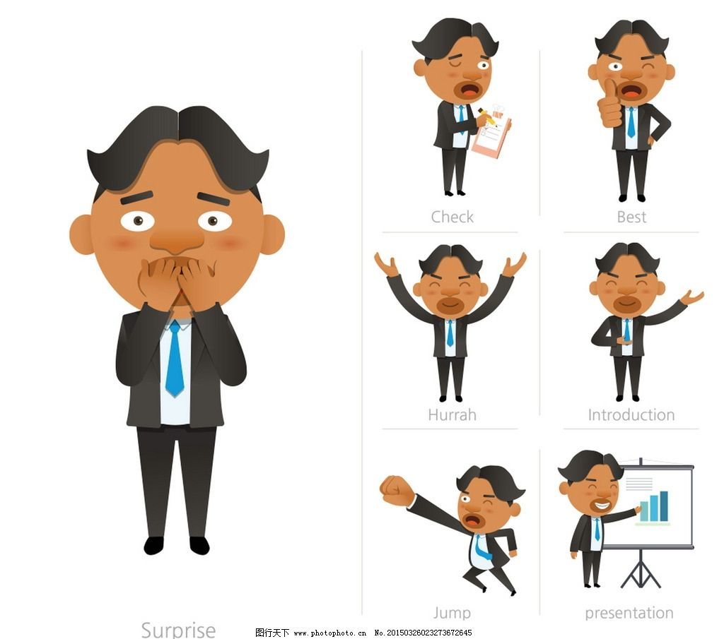 设计图库 人物图库 职业人物  商务人物 白领 销售 手绘人物 简笔画