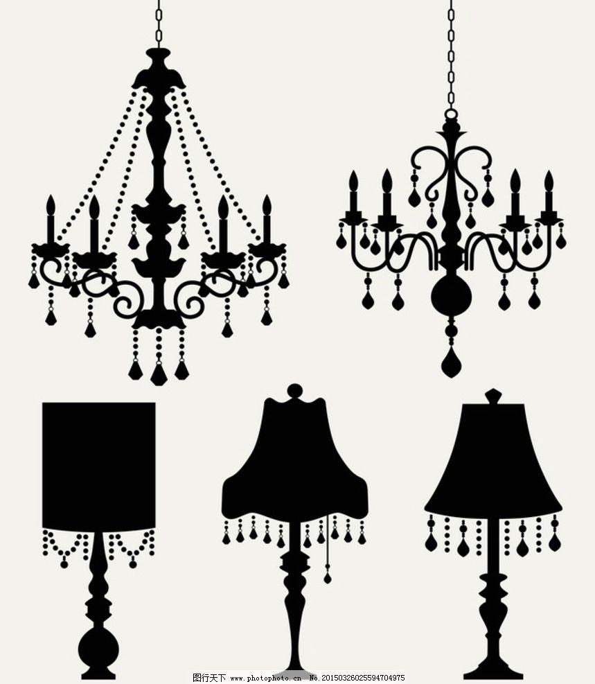 欧式灯饰 灯饰 欧式吊灯 吊灯 古典灯饰 华丽灯饰 矢量素材 灯饰 设计图片