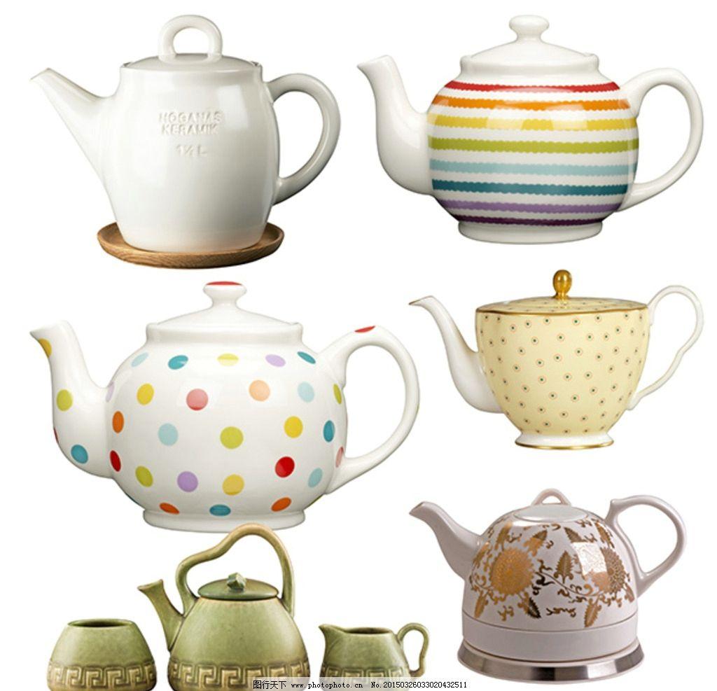 茶壶素材 西式茶壶 陶瓷茶壶 茶壶花纹 茶壶图案 日本茶壶 茶杯 波点