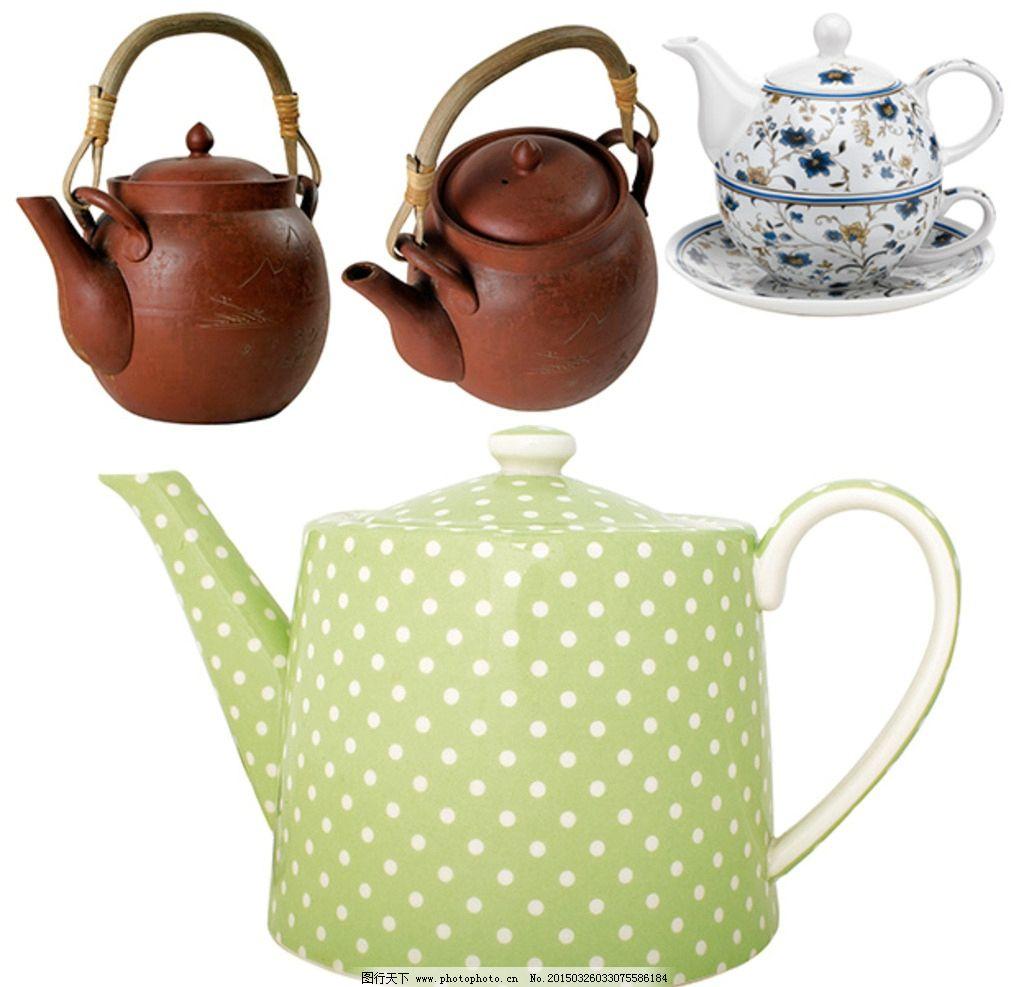 茶壶素材 西式茶壶 陶瓷茶壶 茶壶花纹 茶壶图案 中式茶壶 波点茶壶