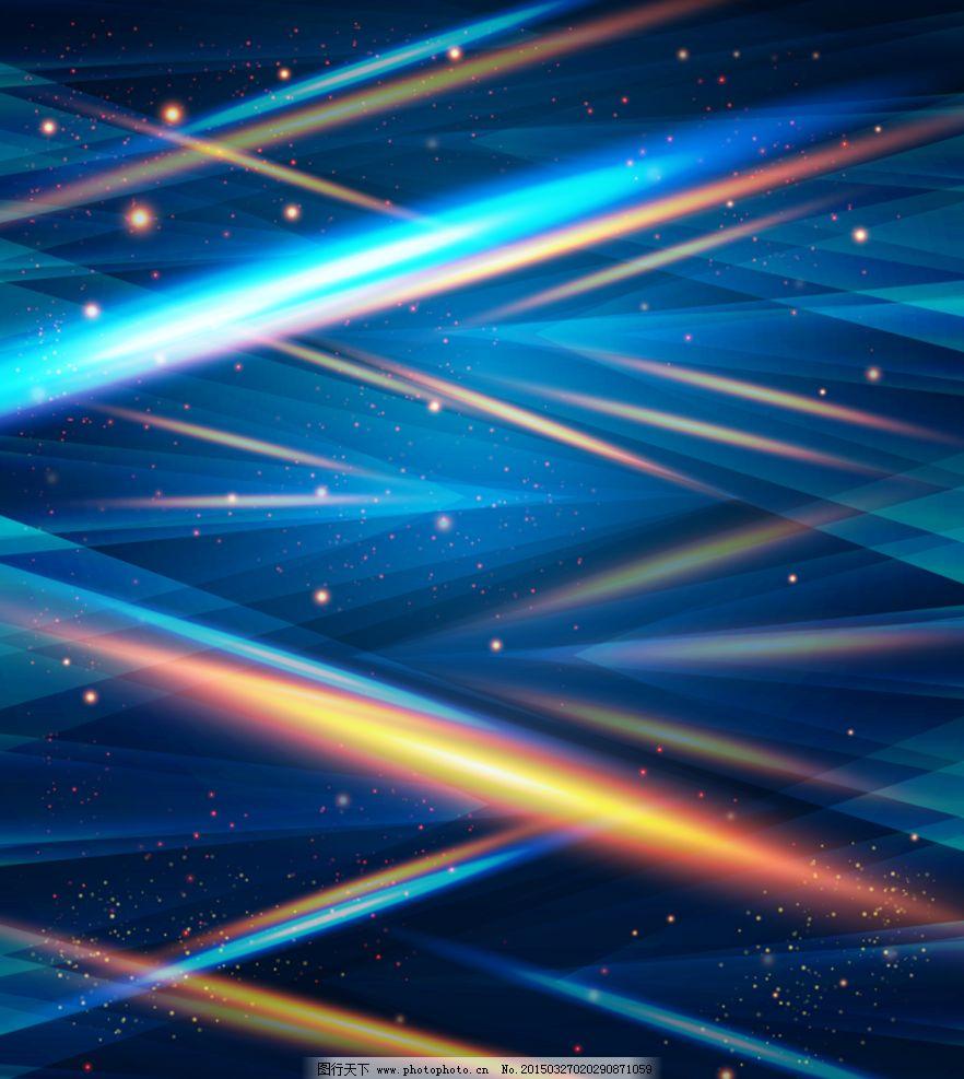 蓝色科技感光影背景ai矢量图片
