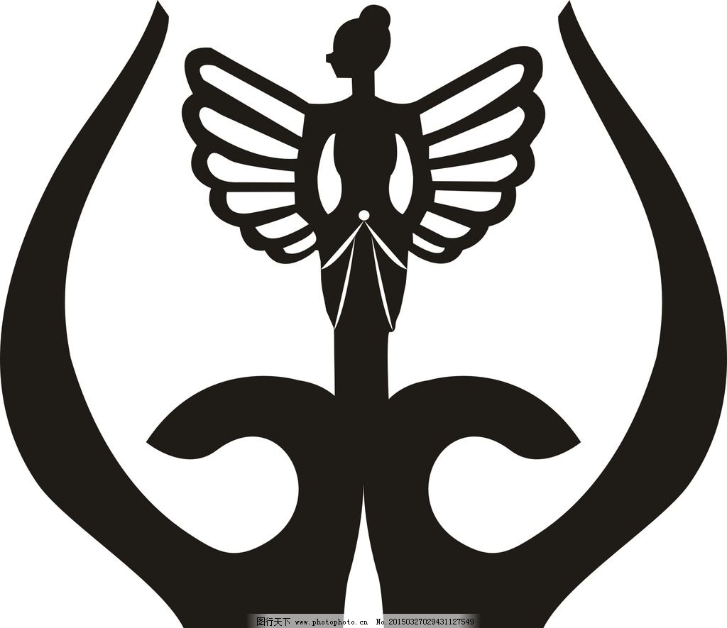 皇冠 精灵 蝴蝶 天使 形象 美女      设计 广告设计 logo设计 cdr