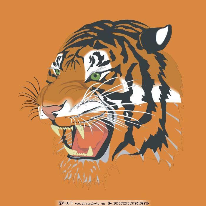 老虎免费下载 虎 虎头 老虎 老虎 虎头 虎 服装设计 图案花型