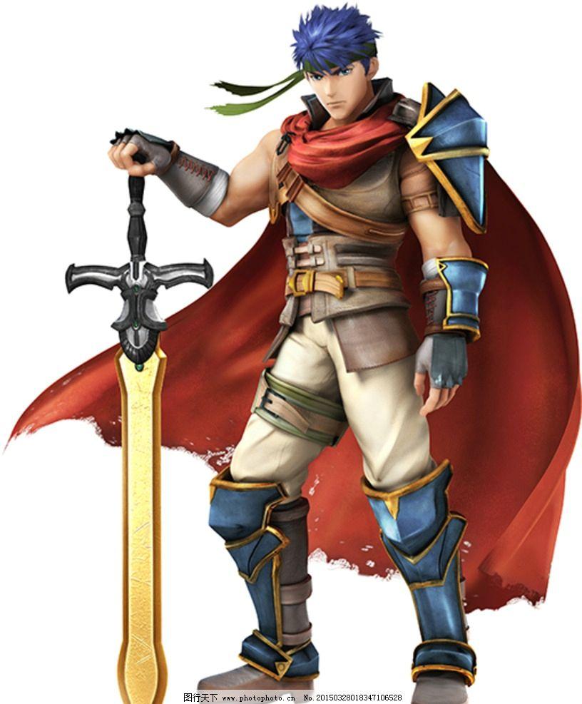 任天堂游戏 游戏角色 虚拟人物 火焰纹章 ike 艾克 3d 盔甲武士 动漫