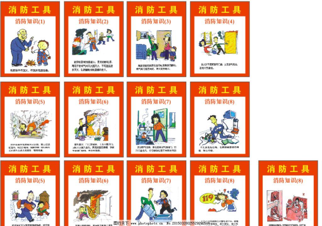 消防安全知识 消防器材展示图图片
