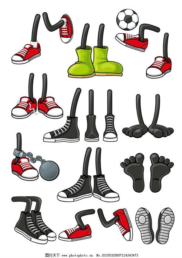 卡通人物鞋子海报