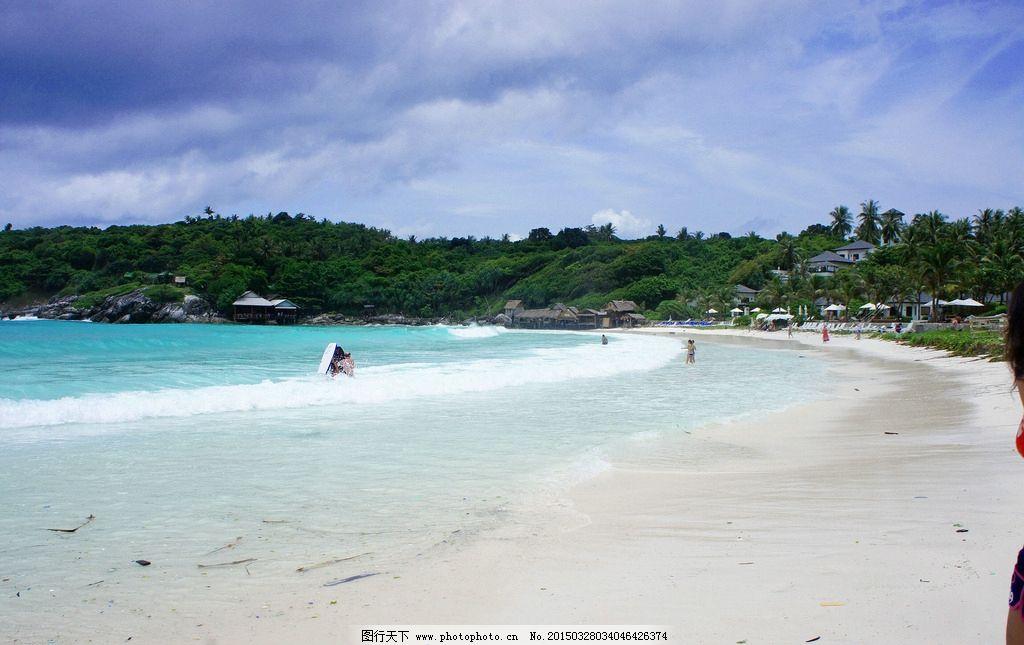 唯美 风景 风光 旅行 自然 泰国 普吉岛 大海 沙滩 蓝天 白云 摄影